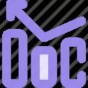 arrow, chart, diagram, left