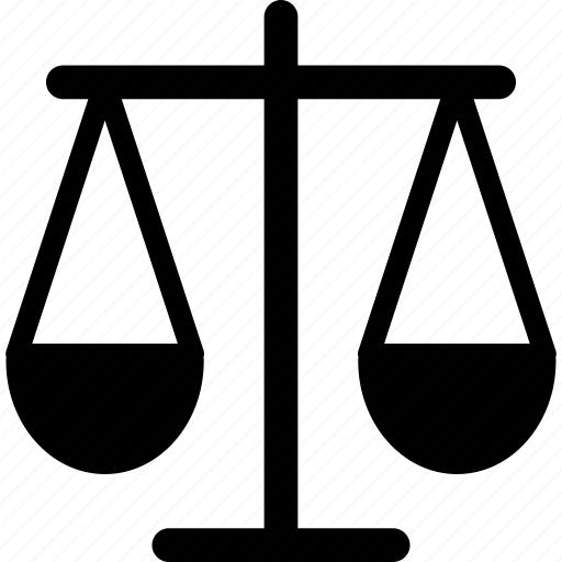 balance, justice, law, merit, weighing, weighing scale icon