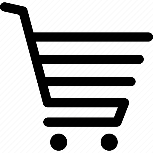 cart, push cart, shopping cart, trolley icon