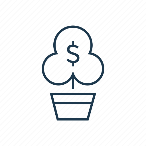 finance, growth, money, money tree, plant icon