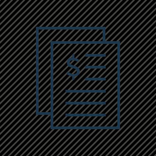 finance, financial report, money, report icon