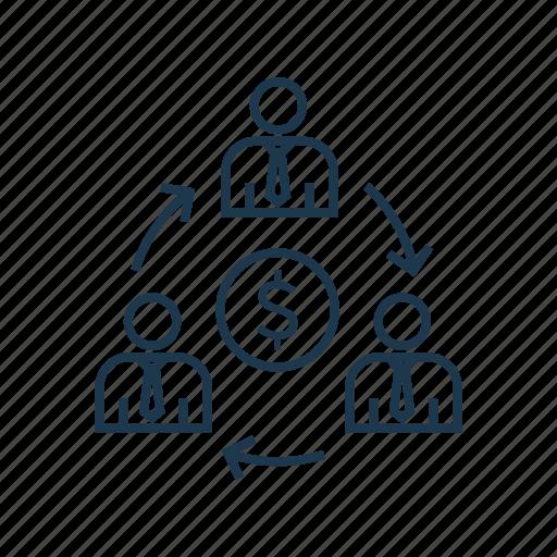 business, collaboration, economy, finance, money, partnership, sharing, technology icon