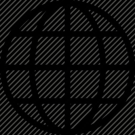 globe, ground plan, map, navigation, world icon