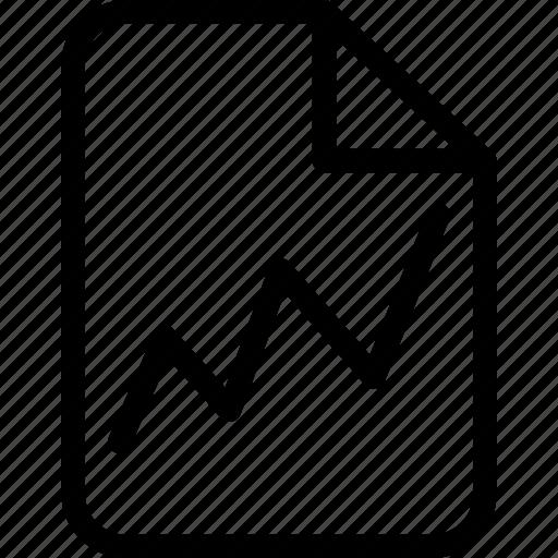 chart, document, graph, graphical representation, improvement, note, progress icon
