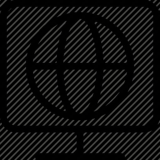 globe, led, map, monitor, television, tv, world icon