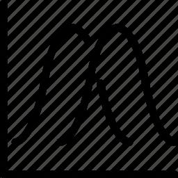 chart, graph, line, line chart, line graph icon