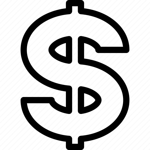 dollar, dollar sign, money, money sign icon