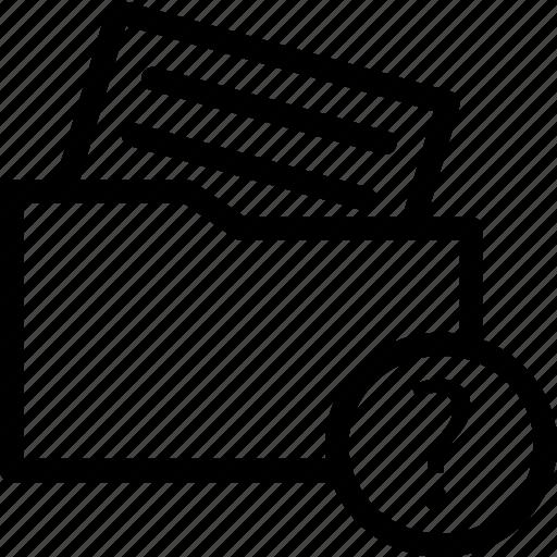 document, file, file folder, folder, unchecked document, unknown document, unread document icon