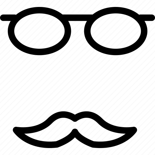 boss, eyeglasses, glasses, moustache, mustache, old, spectacles icon