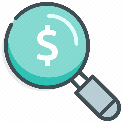 Dollar, finance, money, payment, search icon - Download on Iconfinder