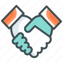 agreement, business, deal, finance, handshake, onboard icon