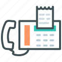 bill, connection, contact, fascimile, fax, phone