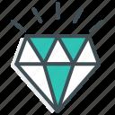 diamond, diamond jewel, jewellery, quality, shape, treasure icon