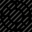 circle, circle chart, pie chart icon, • chart icon