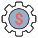 money, settings icon