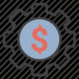 money, settings icon