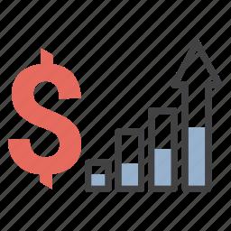 finnances, growth, money icon