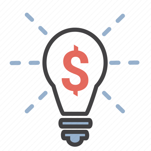 creativity, dollar, idea, lightbulb, money icon