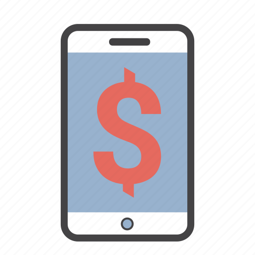 dollar, iphone, mobile, money, phone icon