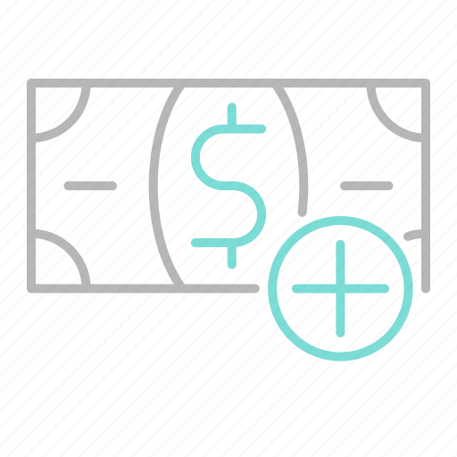 add, business, finance, financial, money icon
