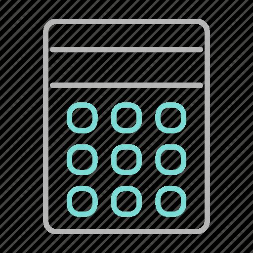 business, calculator, finance, financial, math icon