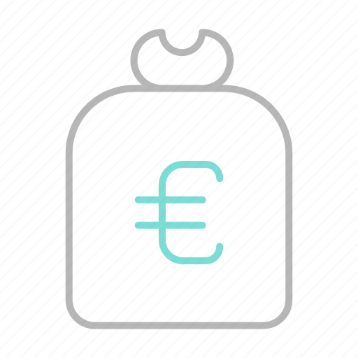 business, euro, finance, financial, money, sack icon