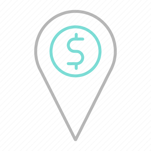 business, finance, financial, location, money icon