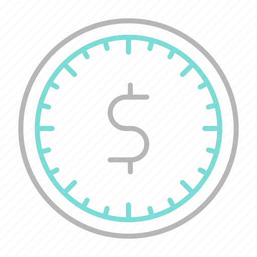 business, clock, finance, financial, money, time icon