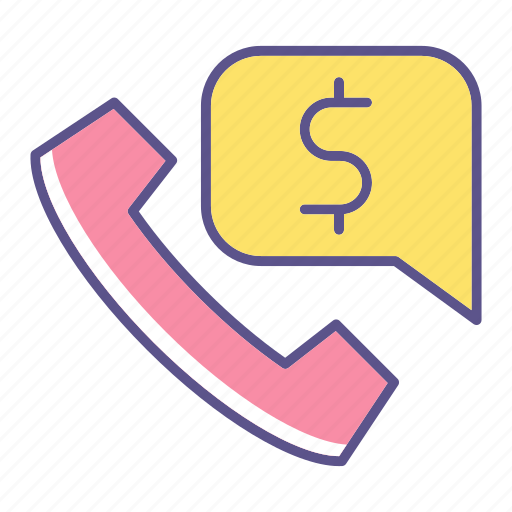 business, call, financial, phone icon