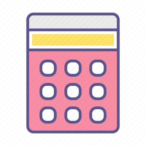 business, calculator, financial, math icon