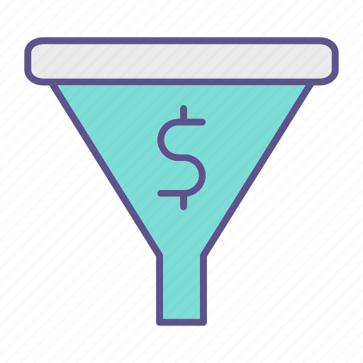 business, conversion, financial, funnel icon