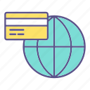 business, card, financial, global, payment icon