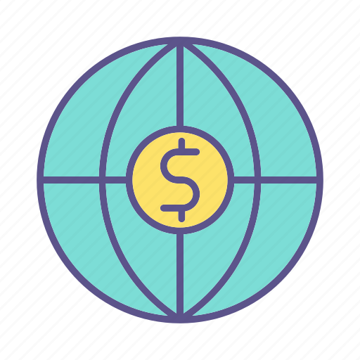 business, financial, global, money icon