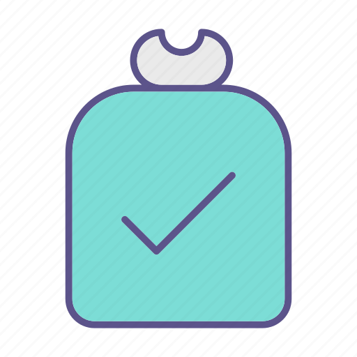 approved, business, financial, money, sack icon