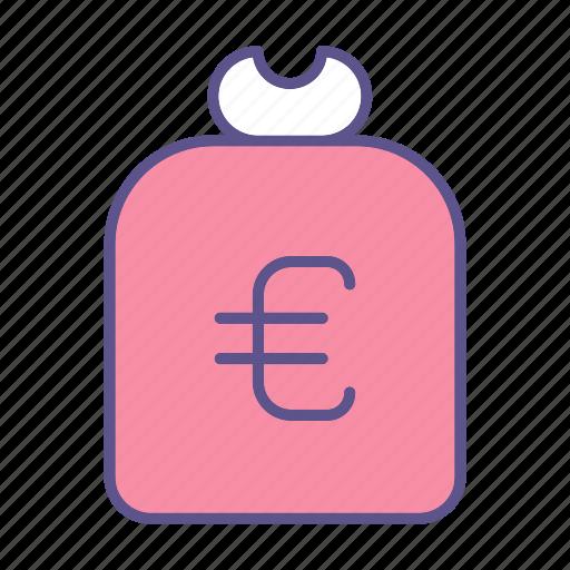 business, euro, financial, money, sack icon