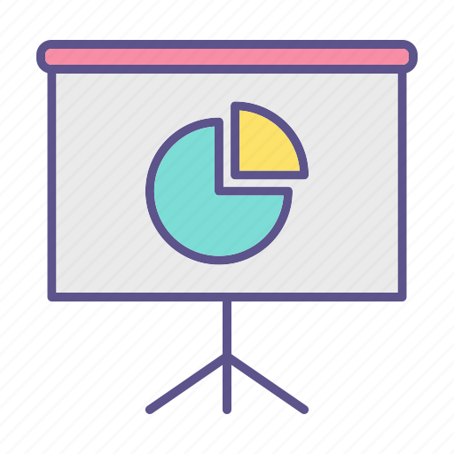 business, chart, financial, presentation icon
