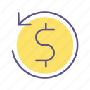 business, financial, money, reload icon