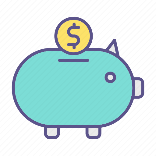 business, financial, piggy bank, savings icon