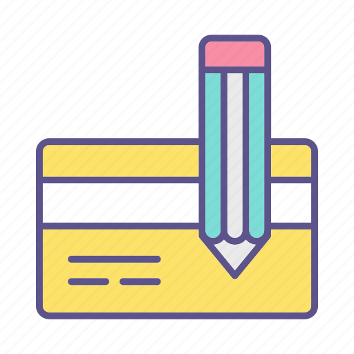 business, card, financial, signature icon