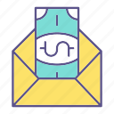 business, envelope, financial, taxes icon