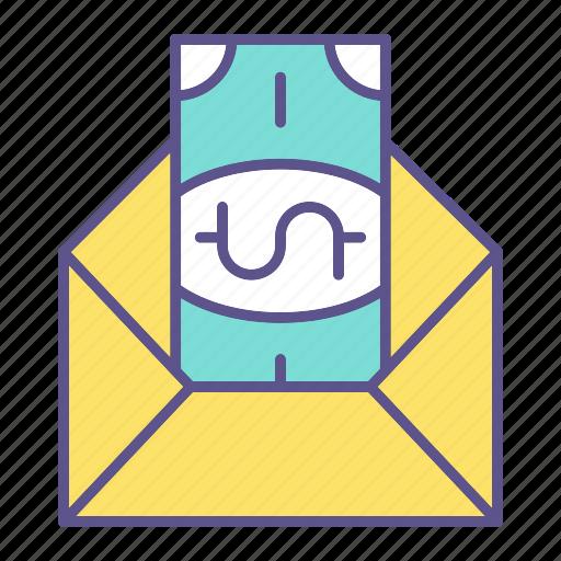 business, envelope, financial, taxes icon