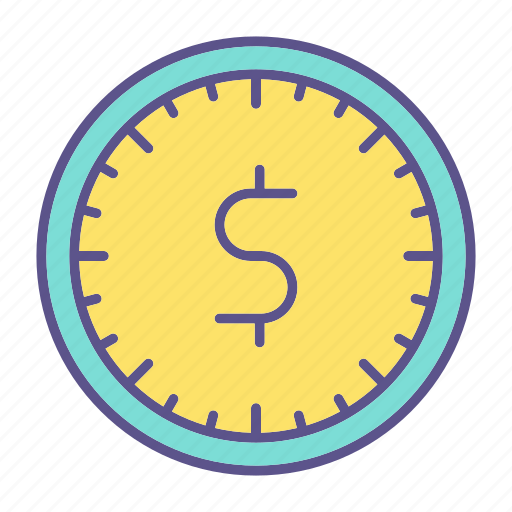 business, clock, financial, money, time icon