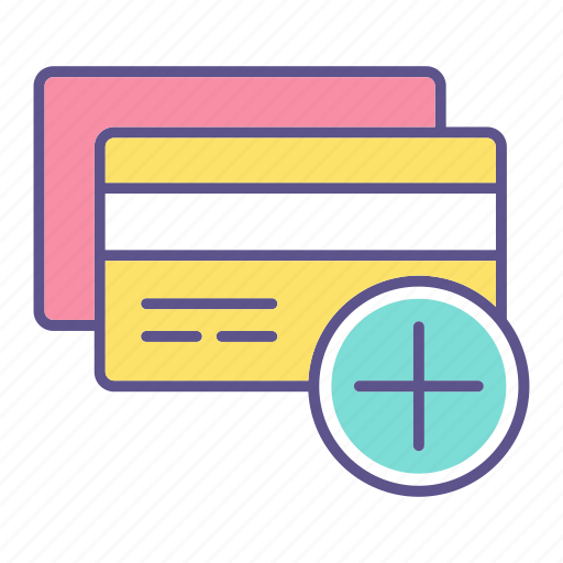 add, business, card, credit, financial, plus icon