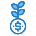 business, financial, grow, make, money, profit icon