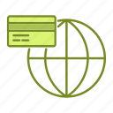 banking, business, financial, global, payment icon