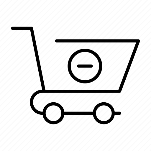 basket, business, cart, remove, shopping icon