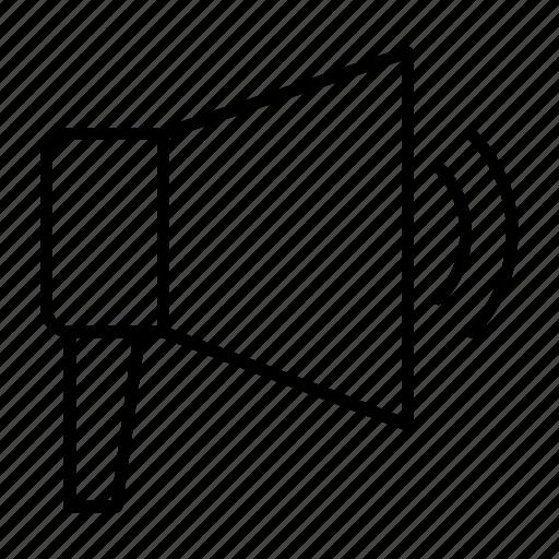 advertising, megaphone, notification, notify, report icon