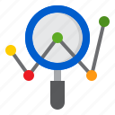 analytics, business, chart, graph, search icon