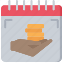 advice, date, financial, give, investment, money icon