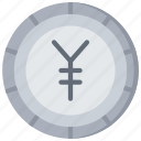 advice, coin, currency, financial, japanese, yen icon